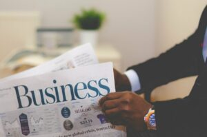 business, businessman, newspaper