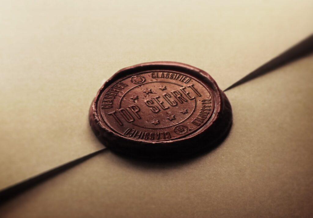 stamp, secret, top